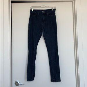 Urban BDG high rise dark blue jeans.